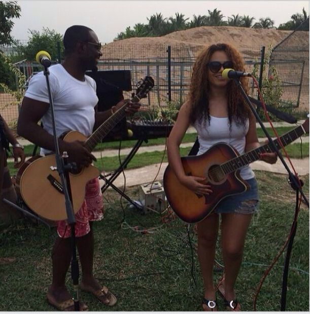 Nadia Buari and Jim Iyke singing and playing it out……