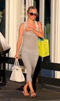 Pamela Anderson walking down the street