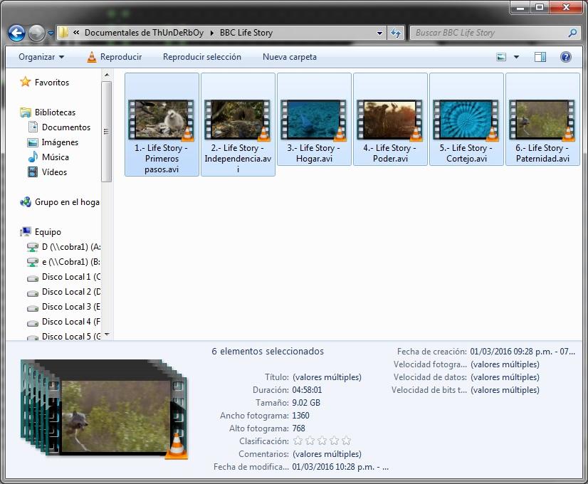 9GB|BBC|Life Story|6-6|Calidad HD 720p|Taykun7000|LPDLW