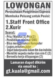 Lowonagn Kerja KURIR dan FRONT OFFICE