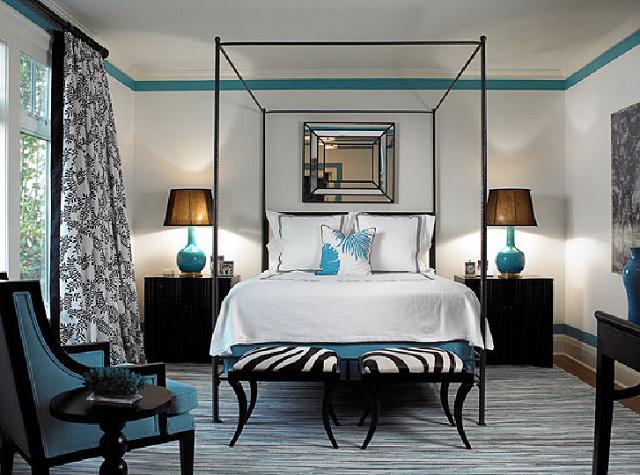 Decoraci n de dormitorio color turquesa - Como se hace el color turquesa ...