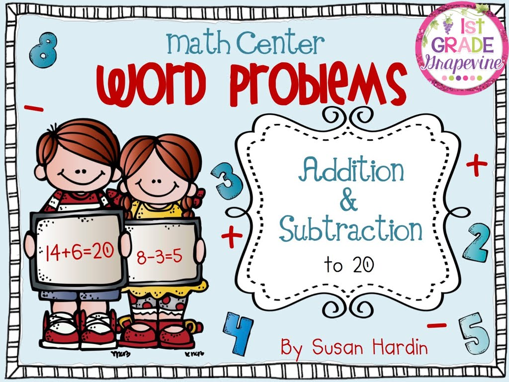 Word Problems:  Addition & Subtraction Task Cards