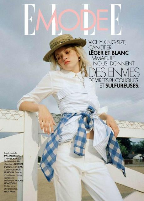 Model @ Maggie Laine for ELLE France, June 2015