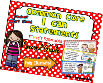https://www.teacherspayteachers.com/Product/Second-Grade-Common-Core-I-CAN-STATEMENTS-Pocket-Chart-Sized-Polka-Dots-955452