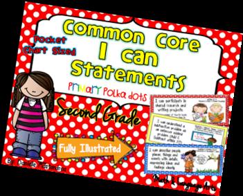 https://www.teacherspayteachers.com/Product/Second-Grade-Common-Core-I-CAN-STATEMENTS-Pocket-Chart-Sized-Polka-Dots-955452