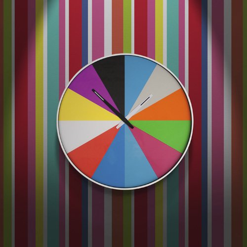 Ultra Flat & Multicolored Wall Clock