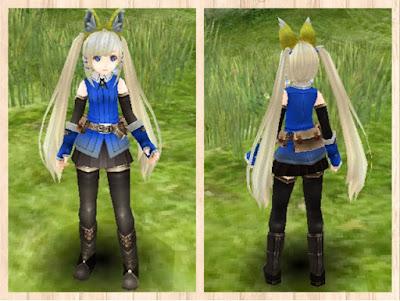 冒険者の服 青1