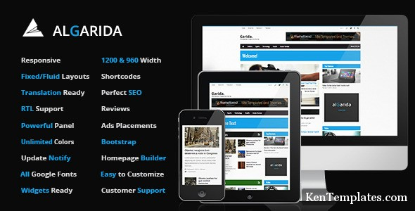 Algarida Responsive Wordpress News And Magazine v3.0