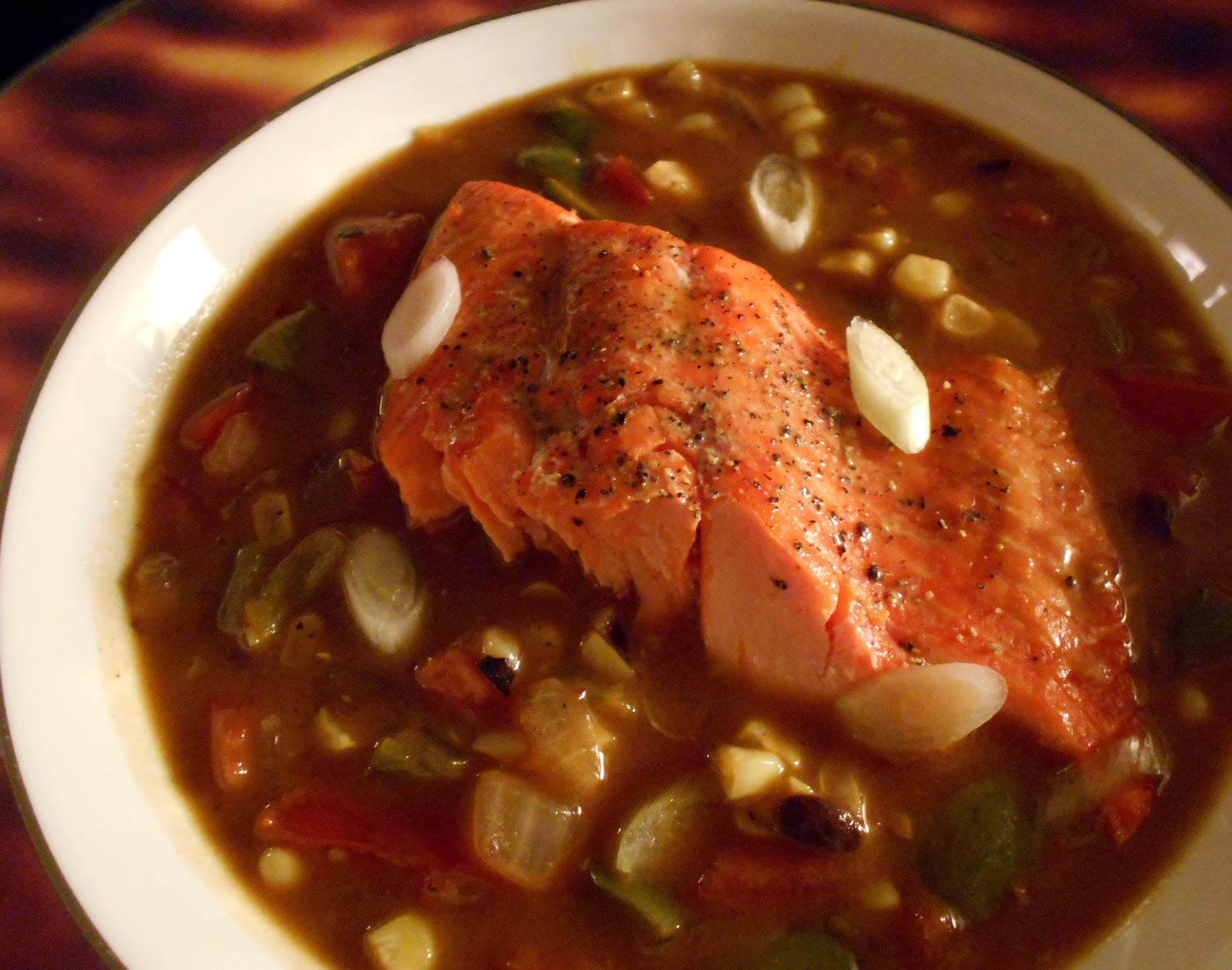 roasted salmon with cantonese pepper stew by gary 1 pound salmon filet ...