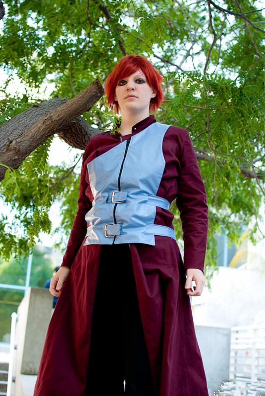 Anime Characters Cosplay : Naruto anime character garra cosplay costume