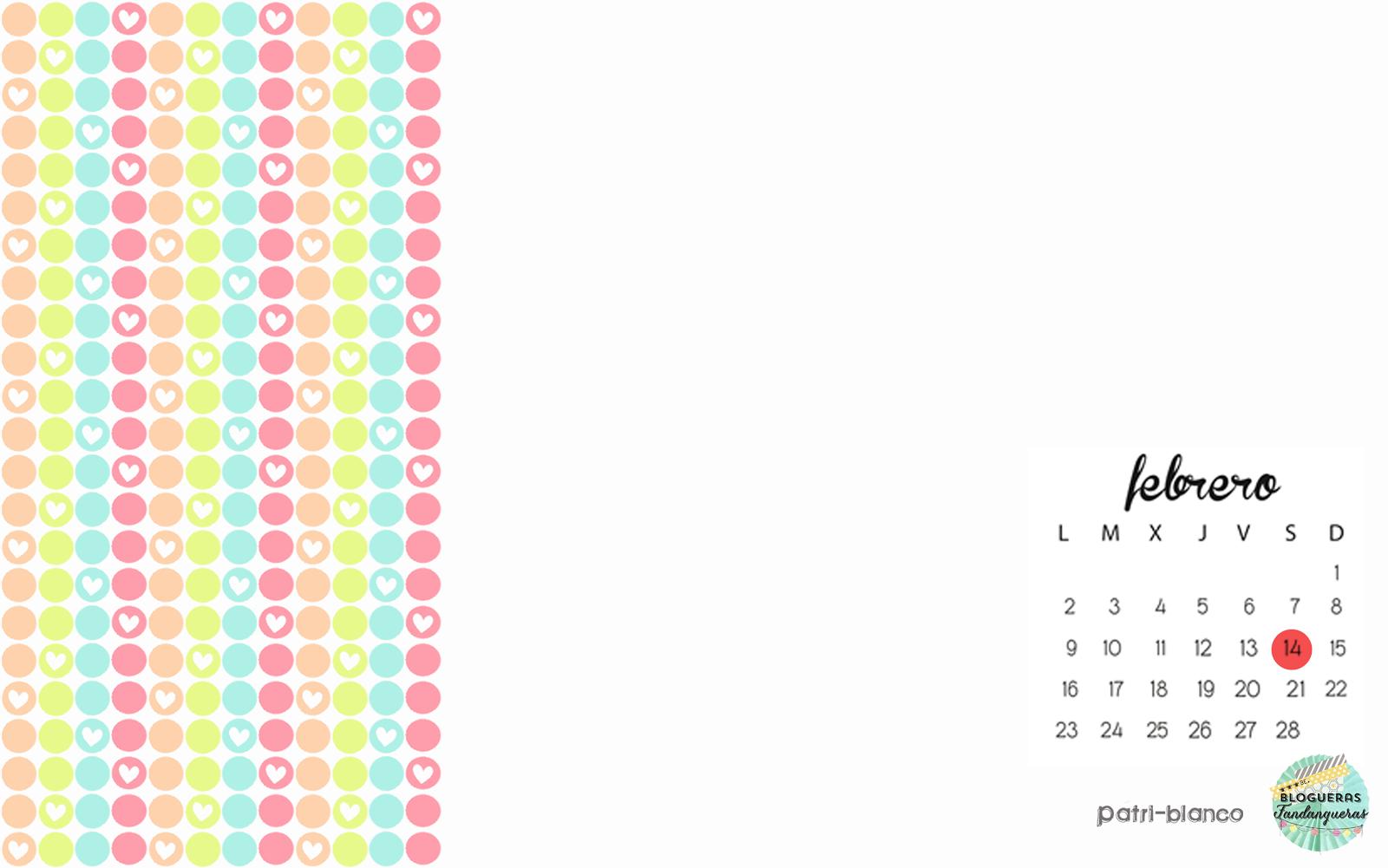 Calendario 2015: Febrero