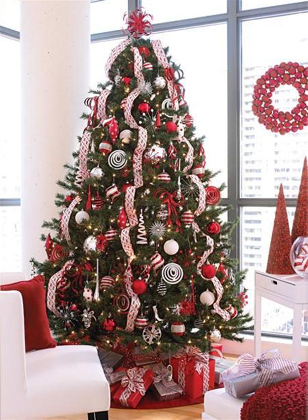 decoracao arvore de natal vermelha:às árvores de natal verdes, existem actualmente um leque vasto de