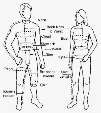 Measure Mens Clothes On A Flat Surface