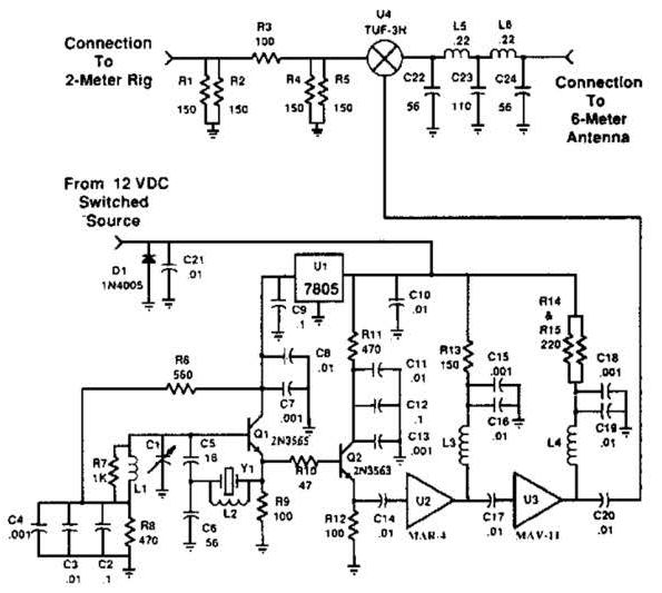 build a 2m 6m transverter circuit diagram