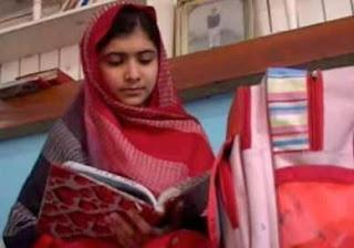 Malala reading book