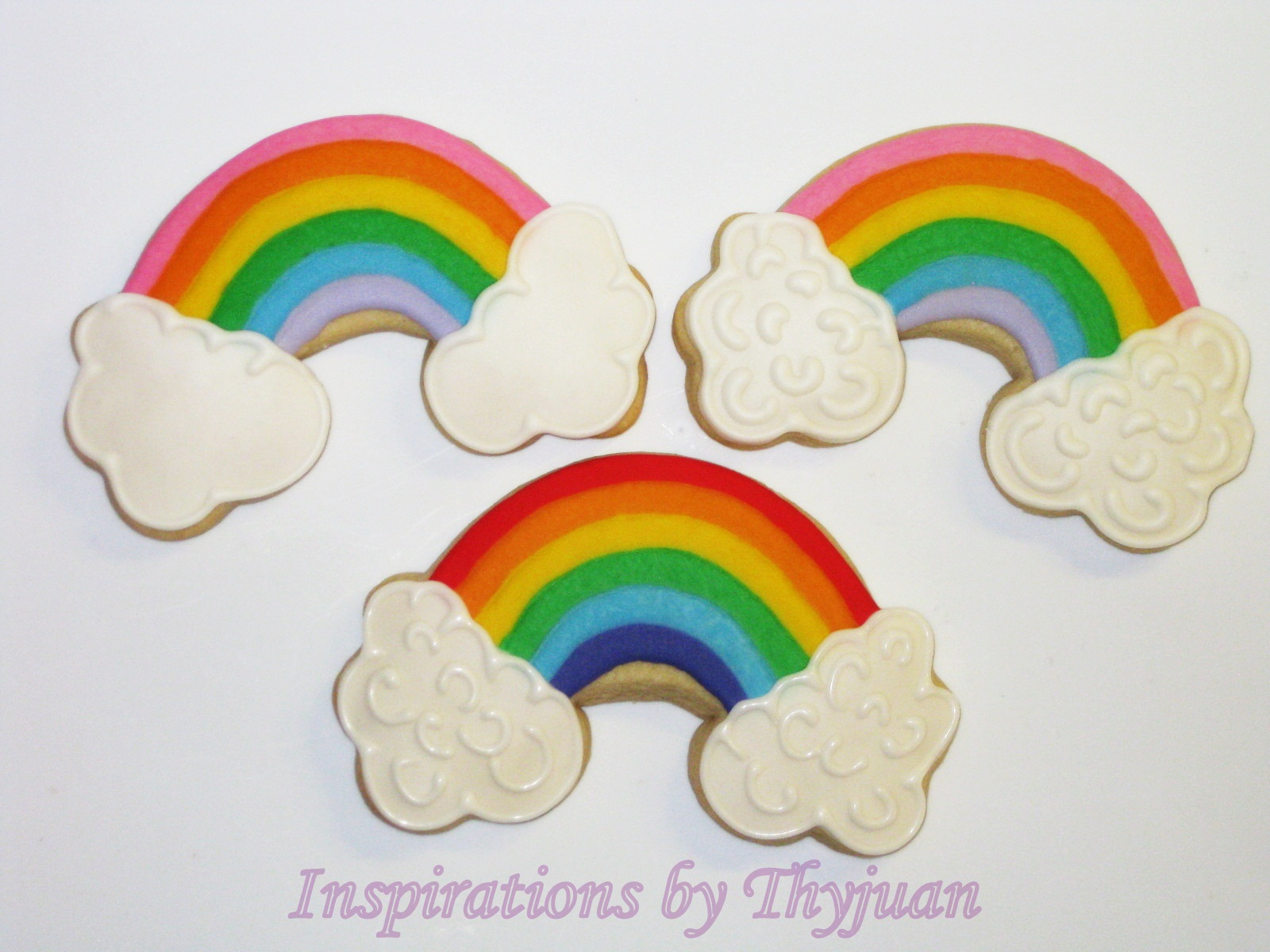 made some rainbow cookies the top 2 designs are now featured on http ...