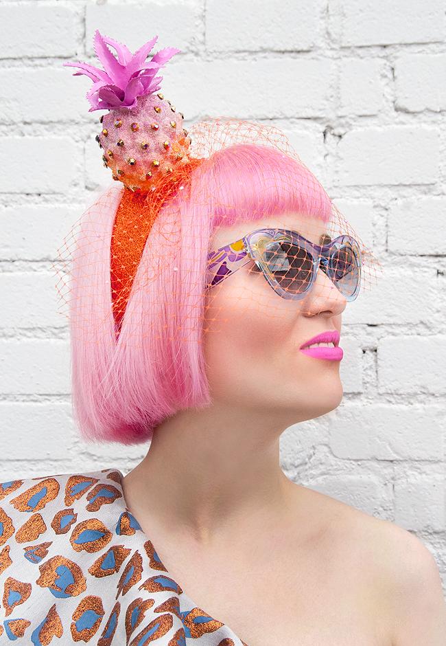 Miu Miu, Pearls and Swine, pineapple hat