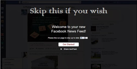 chrome extension for facebook news feed update