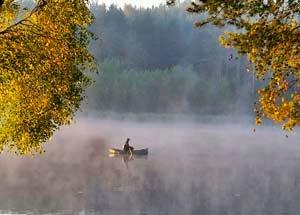 Рыбалка осенью - с проводником отдавая ему