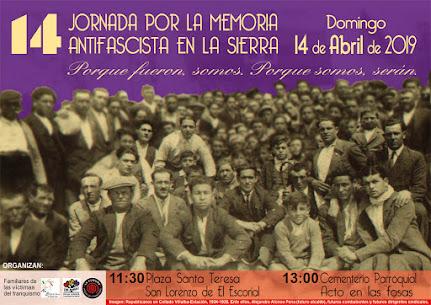 XIVª Jornada por la Memoria Antifascista de la Sierra