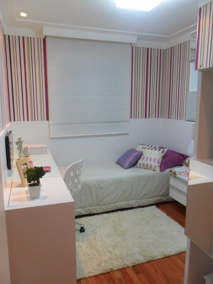 Decoração 10 quartos planejados para meninas, as  ~ Quarto Planejado Solteiro Apartamento