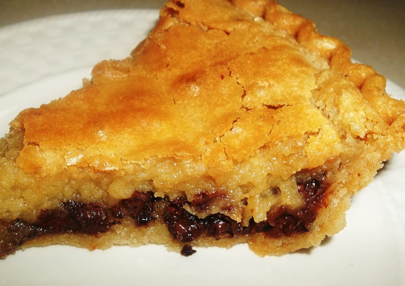 It's All About a Good Recipe: Chocolate Chip Pie ~ aka Chess Pie ...