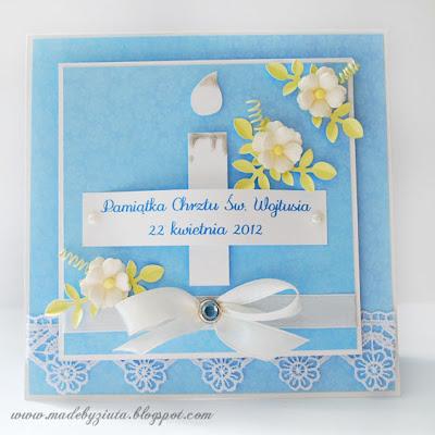 kartki okolicznościowe pamiątka chrztu świętego kartka barbara wójcik