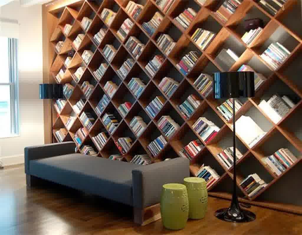 Desain menarik Rak buku gantung minimalis  Desain Rumah dan Interior