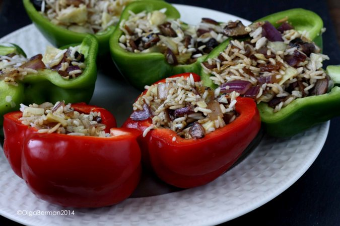 how to make stuffed peppers with rice