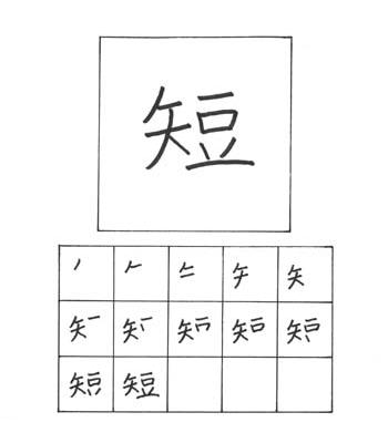 kanji pendek