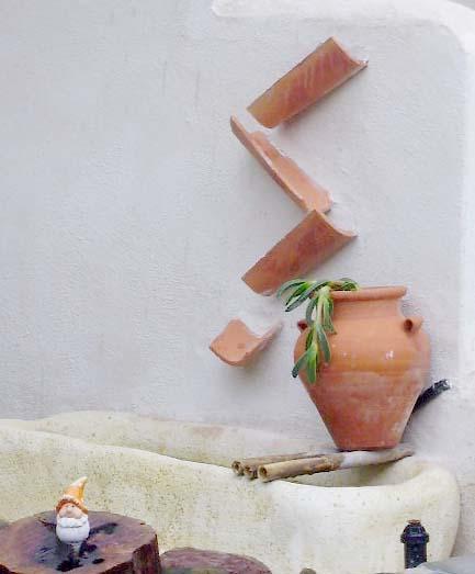 Hacer una sencilla fuente en el jard n o la terraza - Fuentes para terrazas pequenas ...