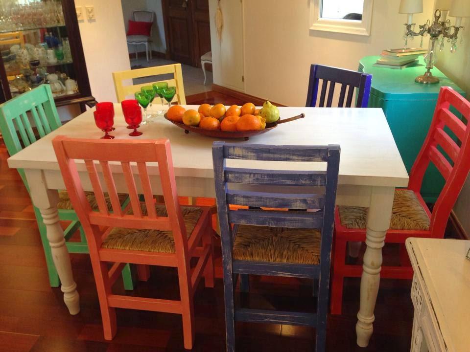 Vintouch muebles reciclados pintados a mano mesa for Muebles de mimbre pintados
