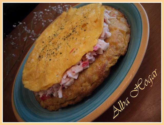 tortilla de cangrejo y atún alba hogar
