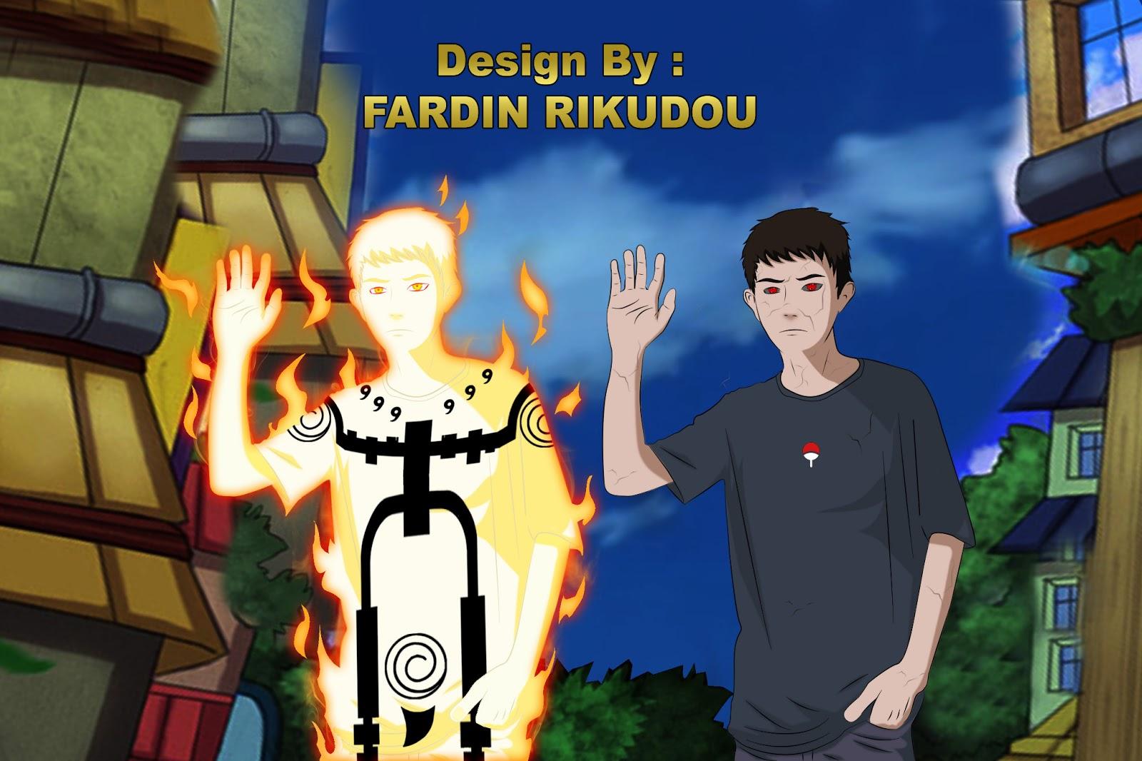 Cara Membuat Foto Kartun Menjadi Chakra Mode Kyubi di Adobe Photoshop ...