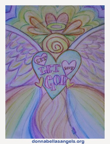 Let Love, Let God Rainbow Angel Painting