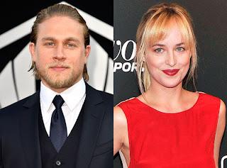 Imagen de Dakota Johnson y Charlie Hunnan, protagonistas de 'Cincuenta Sombras de Grey'