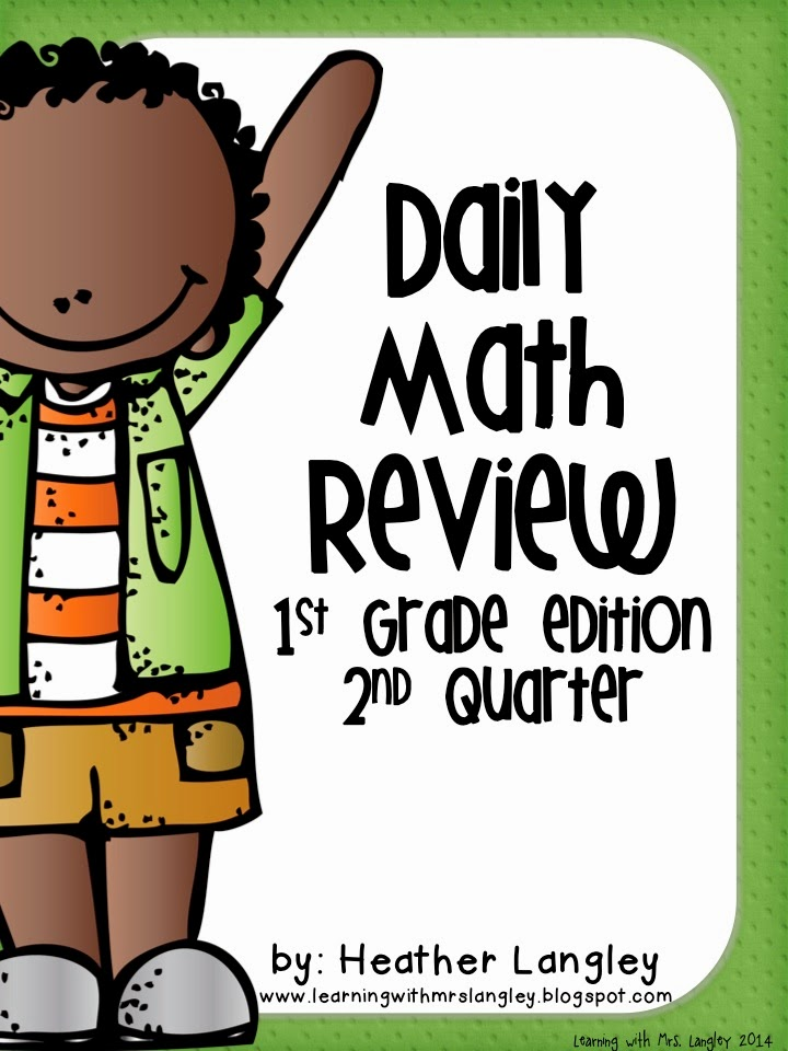 http://www.teacherspayteachers.com/Product/Daily-Math-Review-1st-Grade-Quarter-2-1248245