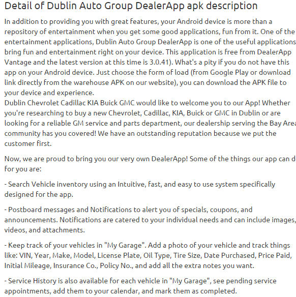 Dublin Auto Group DealerApp 3.0.41 apk