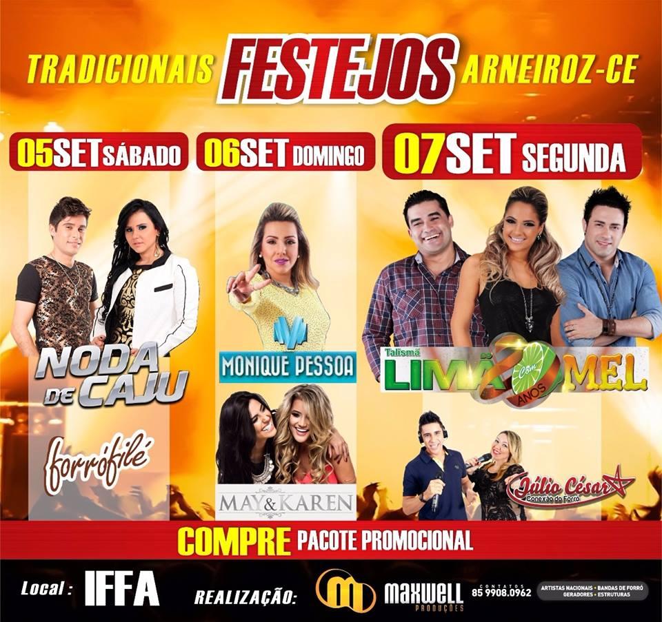 Festejos de  Setembro em Arneiroz 2015.