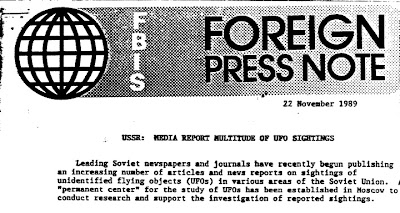 USSR - Media Report Multitude of UFO Sightings