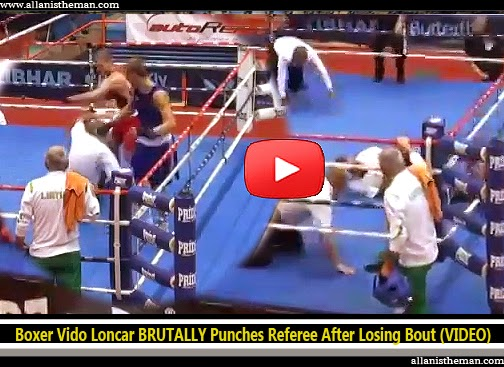 Boxer Vido Loncar BRUTALLY Punches Referee After Losing Bout (VIDEO)