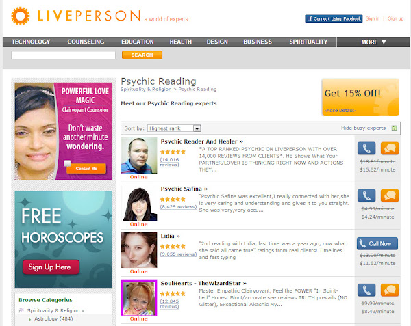 LivePerson Psychic Network