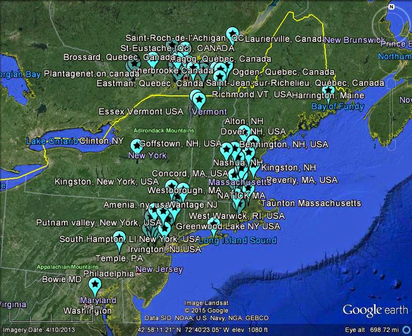 The Latest Worldwide MeteorMeteorite News QC ONT Canada - Quebec usa map