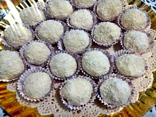 Trufas de coco sin azúcar