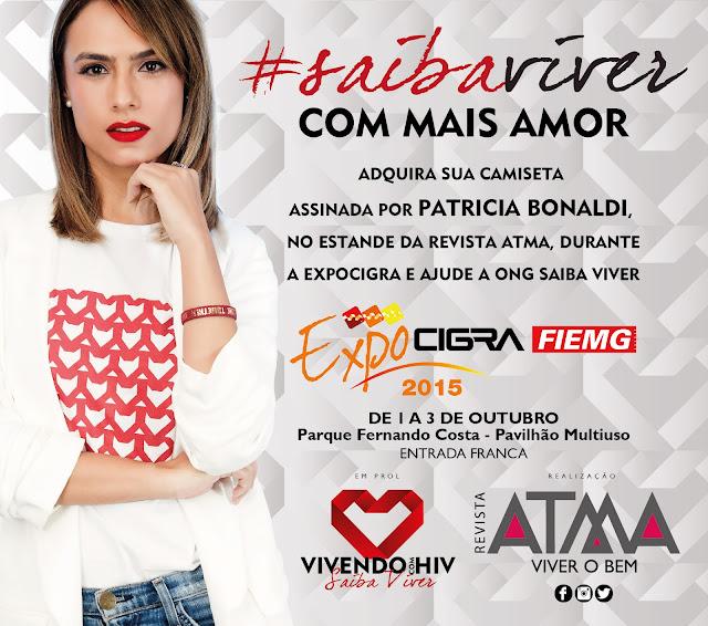 Lançamento da 2ª edição da revista ATMA com venda de camisetas assinadas por Patrícia Bonaldi e renda revertida para a ONG Saiba Viver - Blog Mineira sem Freio