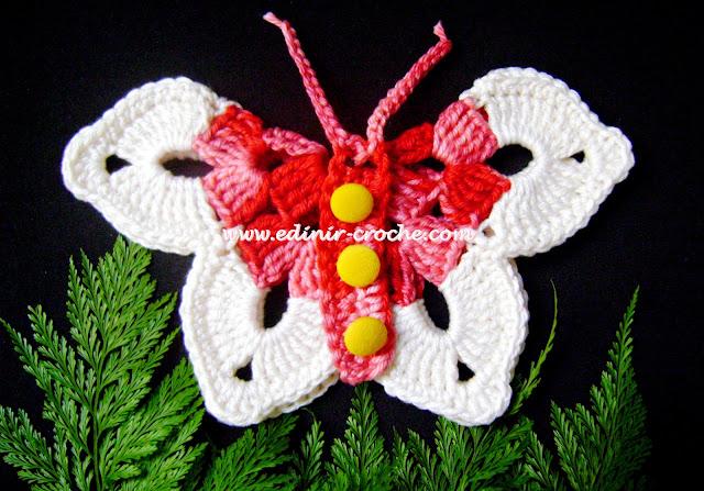 borboletas em croche com edinir-croche dvd video-aulas blog loja frete gratis