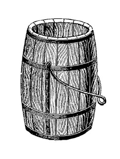 wooden barrel vintage illustration