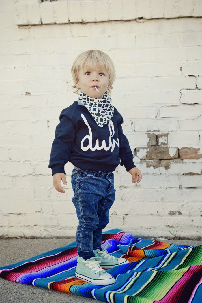 Kids 'Duh.' sweatshirt by kidswear brand Rachel and Groms