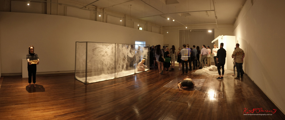 Performance art installation, room shot. Unique Sydney Event Photography