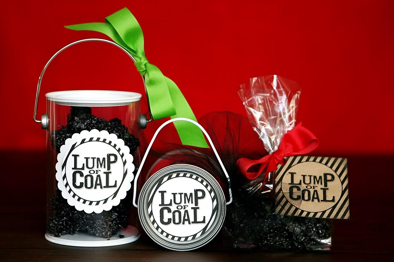 Lump of Coal  Fun GIFT idea w FREE printable